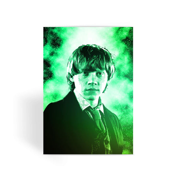 Harry Potter Card - Ron Weasley Face Greeting Card