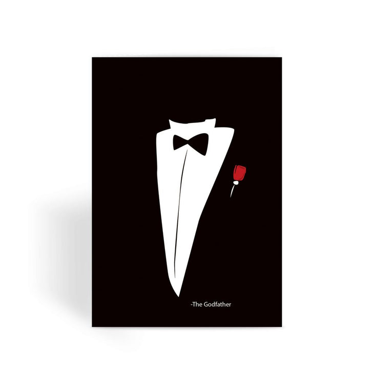 Godfather Card - Tuxedo Greeting Card