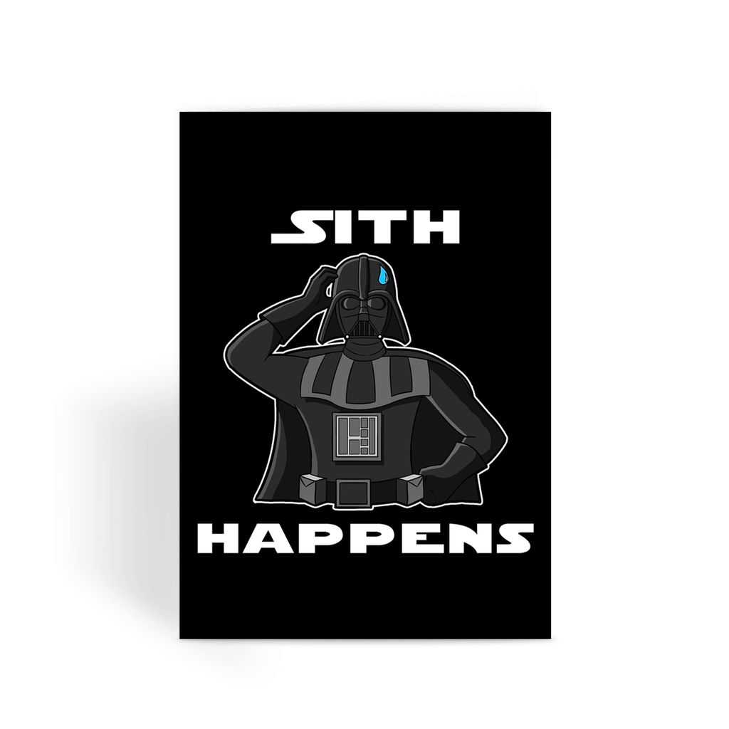 Star Wars Card - Sith Happens Greeting Card