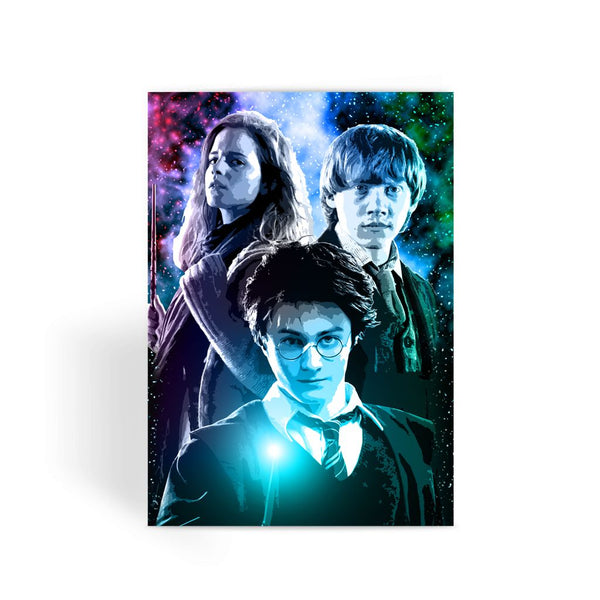 Harry Potter Card - Ron, Hermione & Harry Greeting Card