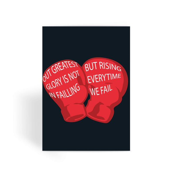 Rocky Card - Our Greatest Glory Greeting Card