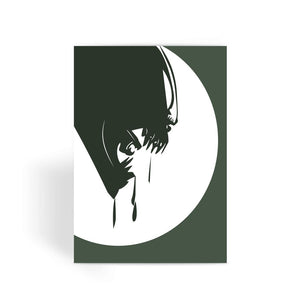Alien Movie Card - Alien Head Greeting Card