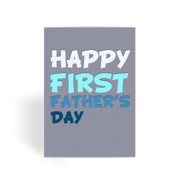 Funny Father's Day Card, Funny Dad Card, Funny Birthday Card For Dad, Cheeky Card for Dad - Happy First Fathers Day Greeting Card