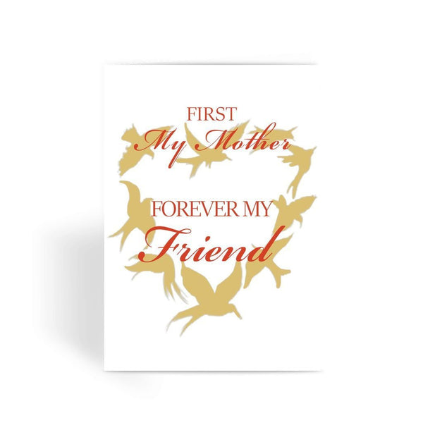 Funny Mother's Day Card, Funny Mum Card, Funny Birthday Card For Mum, Cheeky Card for Mum - First My Mother Forever My Friend Greeting Card