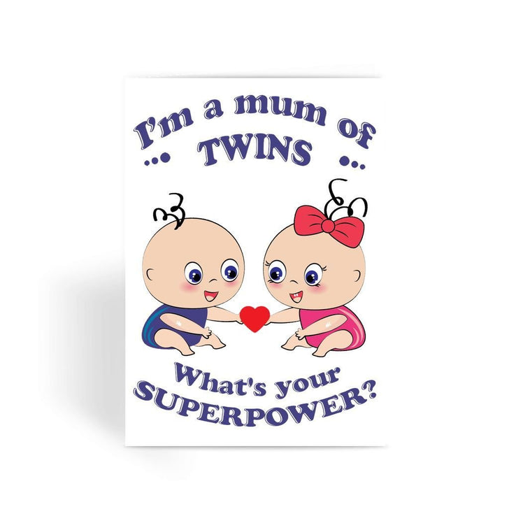 Funny Mother's Day Card, Funny Mum Card, Funny Birthday Card For Mum, Cheeky Card for Mum - I'm a Mum Of Twins Greeting Card
