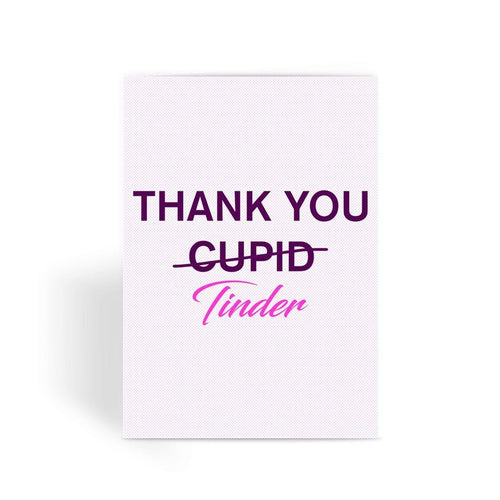 Funny anniversary card, Funny love card, Rude Card, Valentines Card - Thank You Tinder Greeting Card
