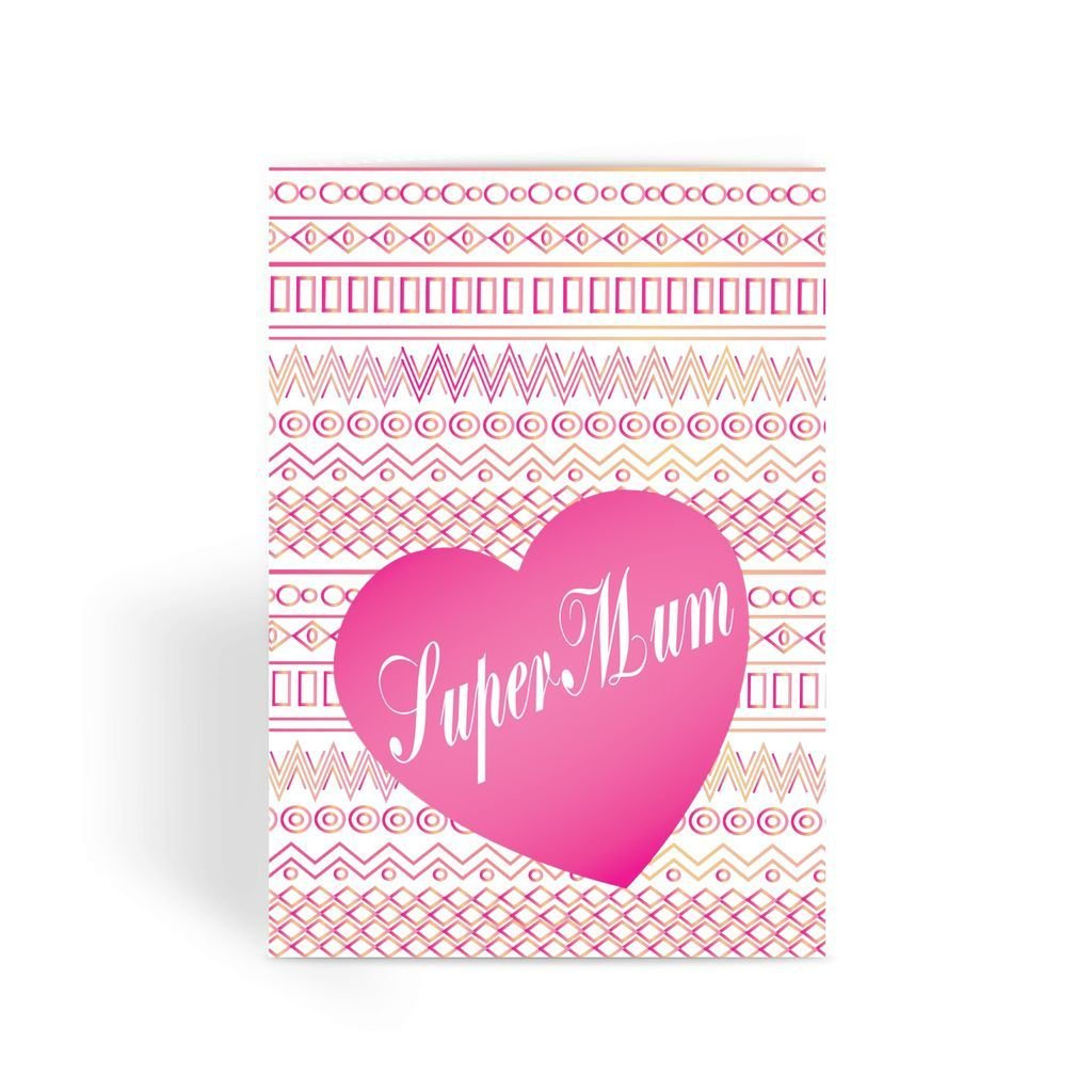 Funny Mother's Day Card, Funny Mum Card, Funny Birthday Card For Mum, Cheeky Card for Mum - Pink Super Mum Greeting Card