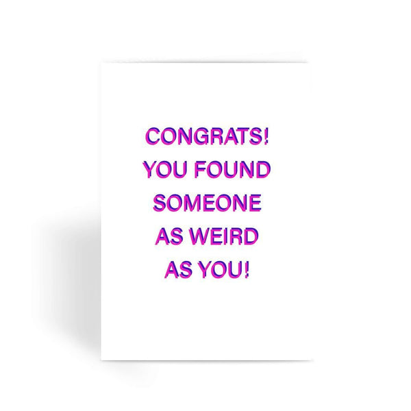 Funny Wedding Card, Funny engagement card, Funny marriage card, Card For Wedding, Congratulations, new mr & mrs - Congrats! Greeting Card