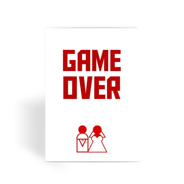 Funny Wedding Card, Funny engagement card, Funny marriage card, Card For Wedding, Congratulations, - Game Over Greeting Card