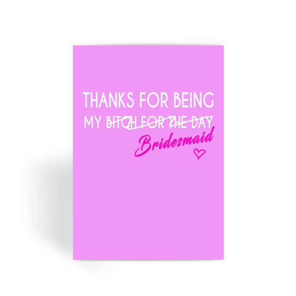 Funny Wedding Card, Funny engagement card, Funny marriage card, Card For Wedding, Congratulations,  - My Bridesmaid Greeting Card