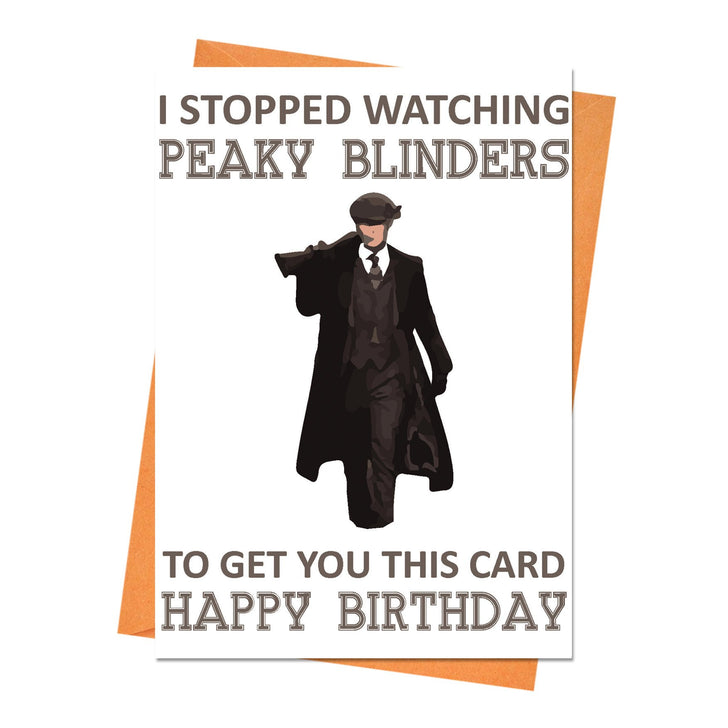 Funny Birthday Card, Peaky Blinders Birthday Card, Boyfriend Birthday, Husband Birthday Card - I Stopped Watching Greeting Card