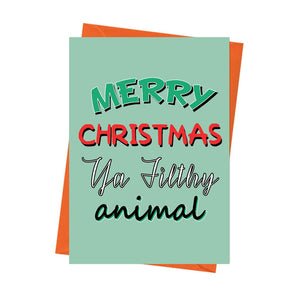 Funny Christmas Card, Home Alone Card, Funny Holiday Card, Xmas Card, -Merry Christmas Ya Filthy Animal Greeting Card