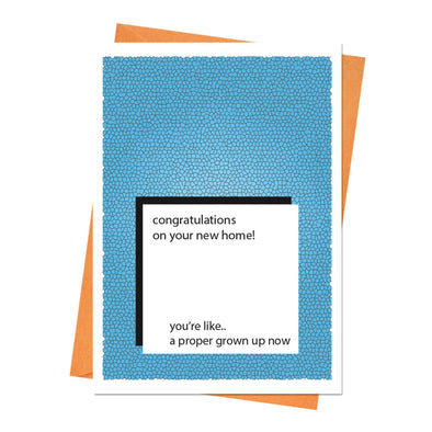 New Home Card, Housewarming Card, New House Card, House Warming Card - Congratulations on Your New Home! Greeting Card