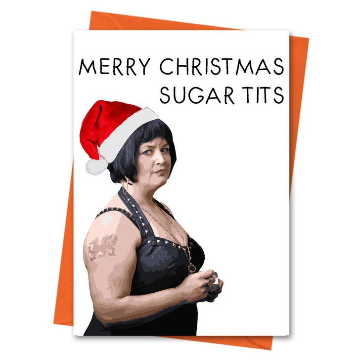 Funny Christmas Card, Gavin and Stacey Christmas Card, Funny Holiday Card, Xmas Card, - Merry Christmas Sugar Tits Greeting Card