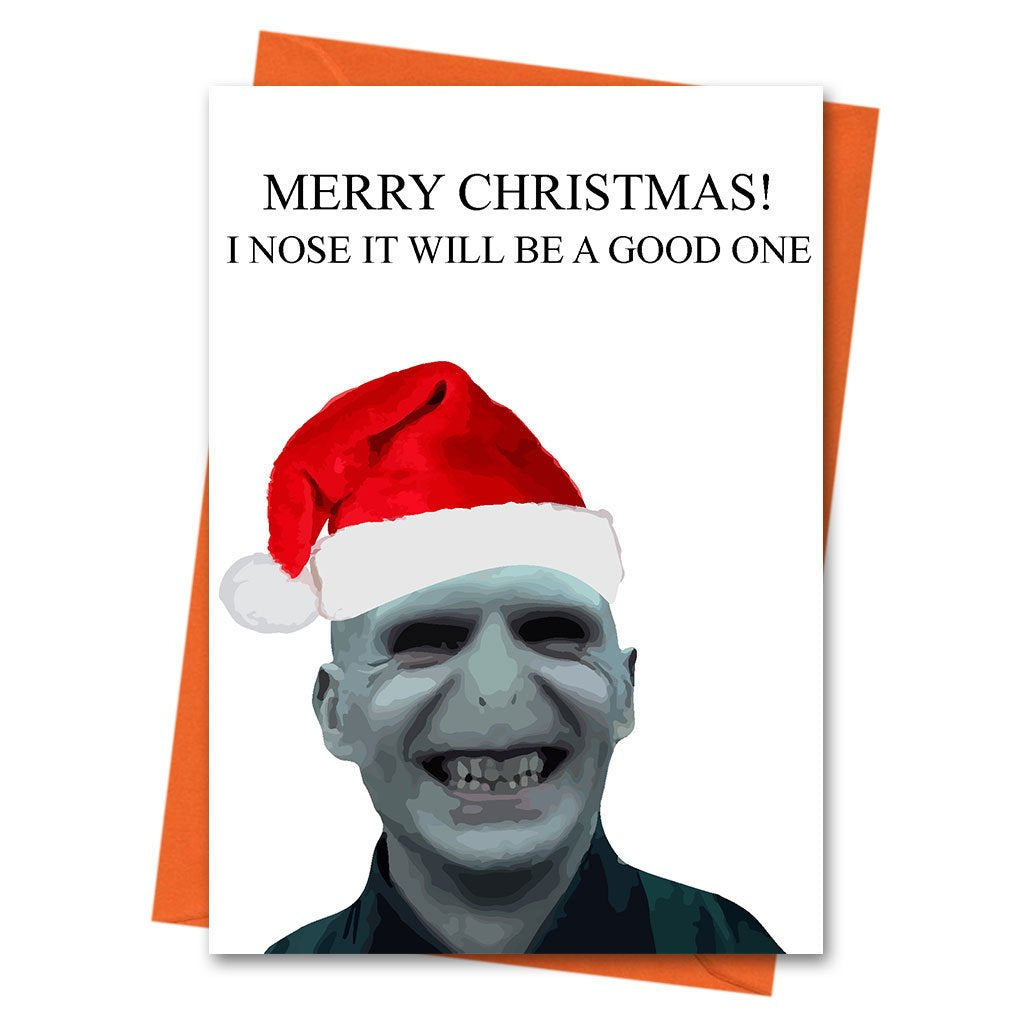 Funny Christmas Card, Harry Potter Card , Lord Voldermort, Funny ...