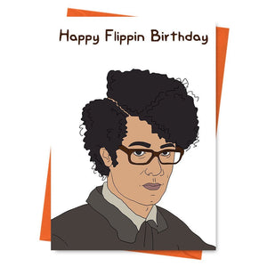 Funny Birthday Card, Maurice Moss Card, Maurice Mozz Card, The IT Crowd Card, -  Happy Flippin Birthday Greeting Card