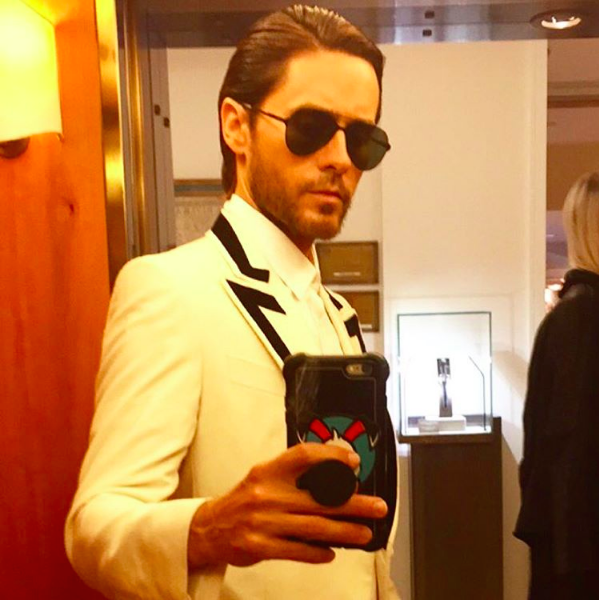 Jared Leto takes a selfie