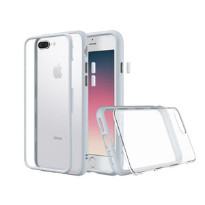 RhinoShield - MOD for iPhone 7 Plus / 8 Plus (Could Gray Rim, Button & Frame, Clear Back Plate)
