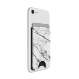 PopWallet White Marble: Removable & Repositionable Wallet