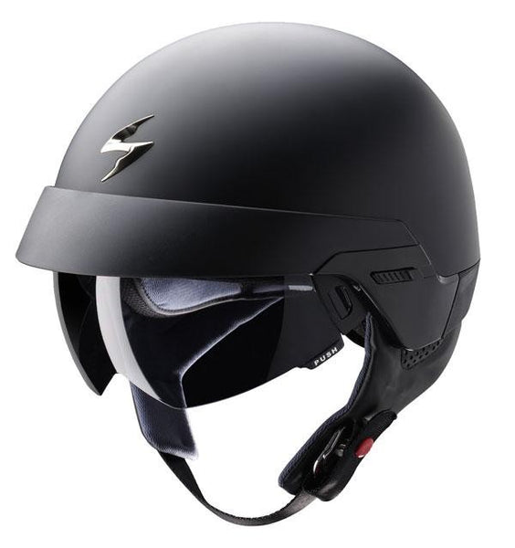 SpesaUK - Scorpion Motorcycle Helmet Exo 100 Matt Black Large