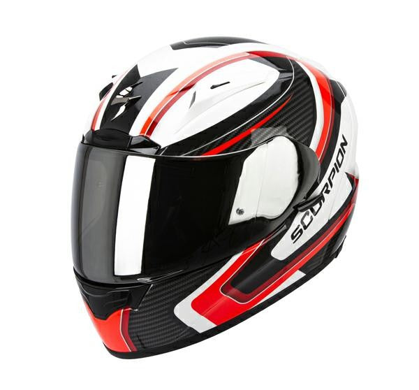 SpesaUK - Scorpion Helmet Exo 2000 Carb White / Red / Black Large