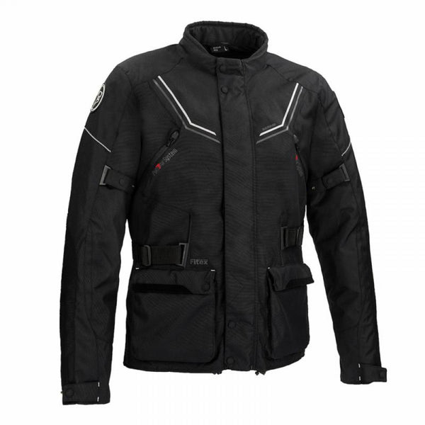 SpesaUK - Bering Renegade Waterproof Motorcycle XL Jacket in Black & Grey