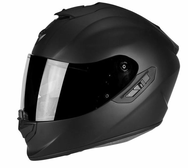 SpesaUK - Scorpion Exo 1400 Air Matt Black Large Black Motorcycle Helmet