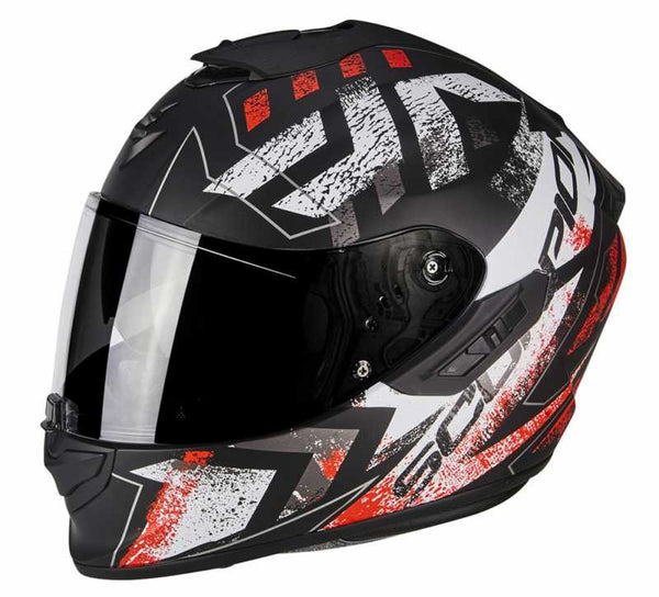 SpesaUK - Scorpion Exo 1400 Picta Matt Black / Red Medium 1Nr Motorcycle Helmet