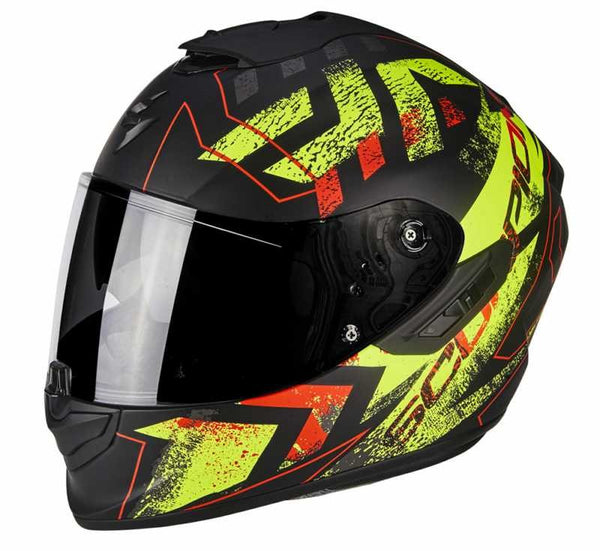SpesaUK - Scorpion Exo 1400 Picta Matt Black / Yellow XL 2Ny Motorcycle Helmet