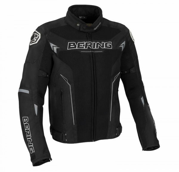 SpesaUK - Bering Mistral Waterproof Motorcycle Medium Jacket in Black, White & Grey