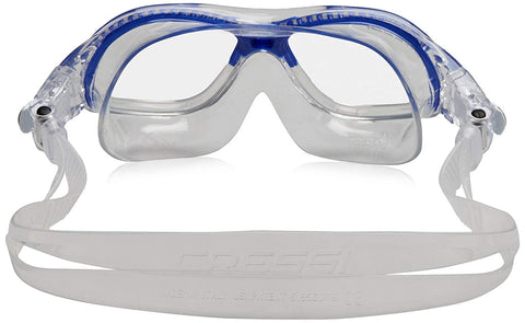 SpesaUK - Cressi Swim Mini Cobra Aged 7-15 Years Clear / Blue Swimming Goggles