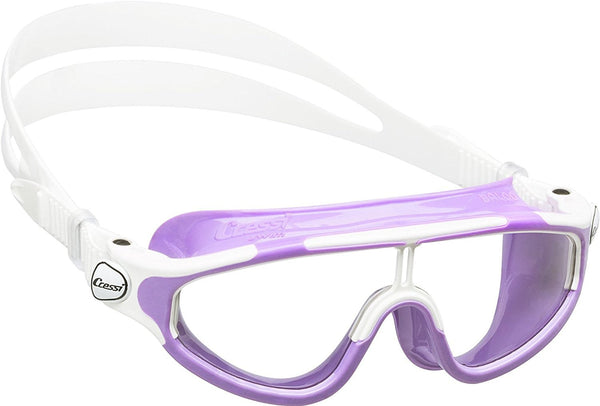 SpesaUK - Cressi Swim Baloo Easy Adjustable Buckles Aged 2-7 Years Lilac Swimming Goggles