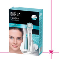 SpesaUK - Braun FaceSpa 832e Fine Hair Removal Cleansing Brush & Mini Expilator In Blue