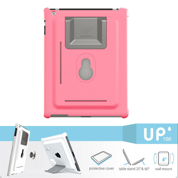SpesaUK - Exelium XFLAT UP120 Pink - 3in1 iPad mini Case, Wall Hang System and Table Stand
