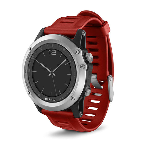 SpesaUK - Garmin Fenix 3 Sports GPS Running Activity Monitor Watch - Silver/Red