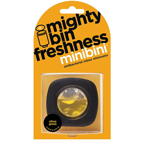 SpesaUK - Minibini Dustbin Rubbish Bin Antibac Odour Eliminator Air freshener Citrus Grove