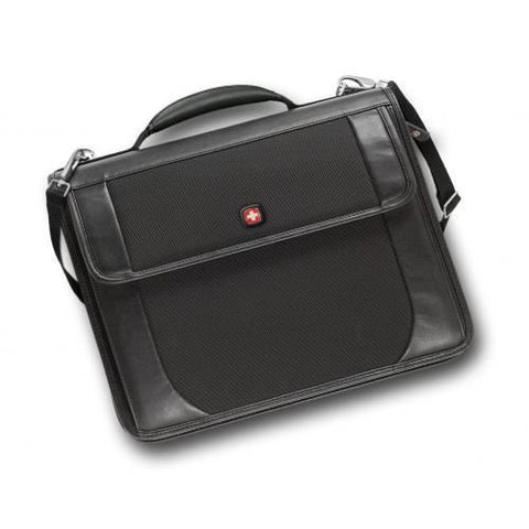 SpesaUK - Wenger Centra Present-O-Folio Business Brief Case in Black with Wenger Notepad
