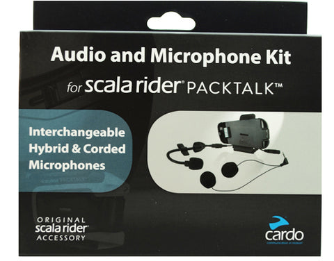 SpesaUK - Cardo Scala Rider Helmet Audio & Microphone Kit Dual Mic for PackTalk, SmartPack