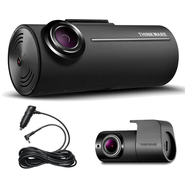 SpesaUK - Thinkware F100 2CH Front & Rear Dash Cam Drive Recorder HD 1080p 12v Car Charger