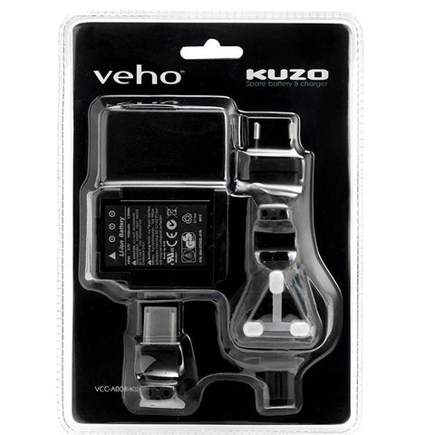 SpesaUK - Veho VCC-A004-KSB Kuzo HD Camcorder Spare Battery and Charger Kit