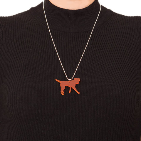 Rokford Frosted Border Terrier Pendant