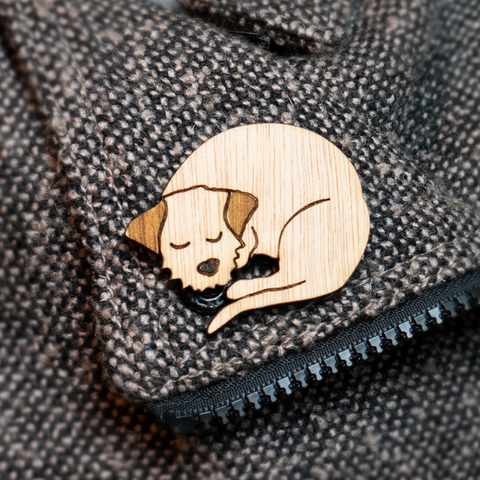 Border Terrier Mini Croissant Brooch - 3 to choose from