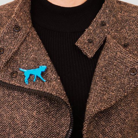 Blues Rok Border Terrier Brooch - Rokford