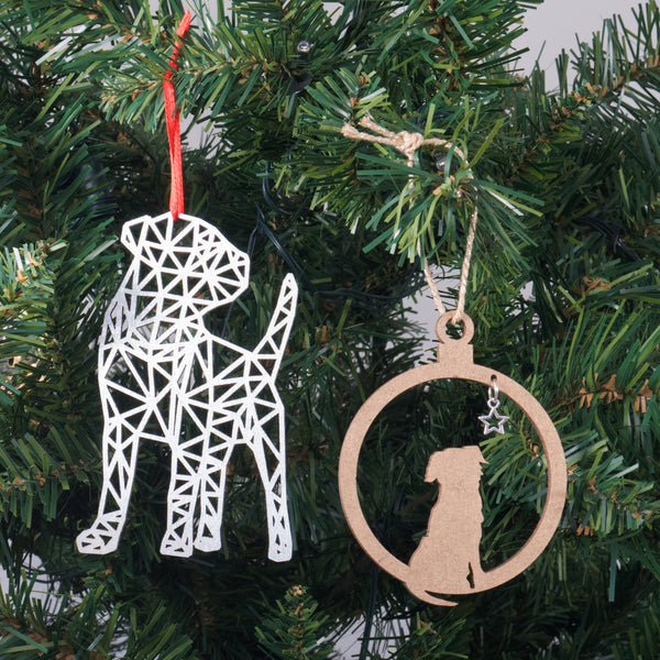 Bark the Herald Angels Sing - Border Terrier Christmas decoration