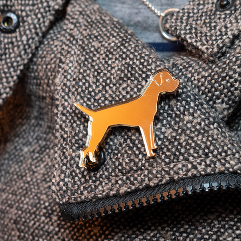 Border Terrier Brooch - Shaken not Stirred