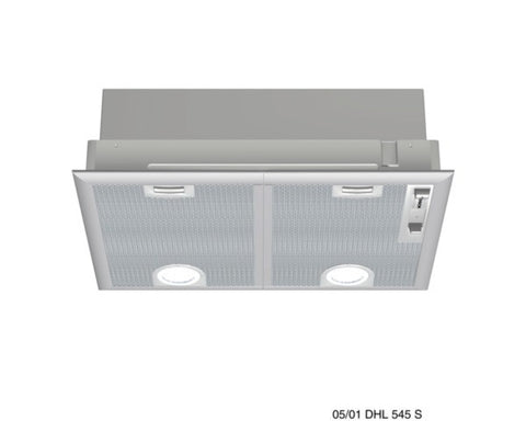 53 cm wide Canopy hood DHL555BGB Silver metallic lacquer