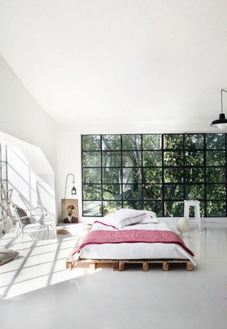 Scandinavian bedroom enhancing space and natural light