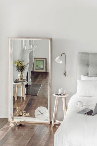 Free Standing Marble Mirror & Side Table — Bedroom Designs