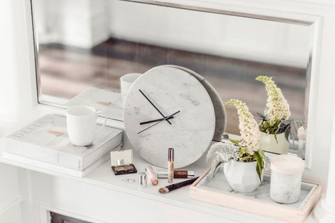 Get The Scandinavian Look With Harpers Project's Marble Clock, Marble Tray & Marble Candle