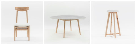 harpers project stool and coffee table